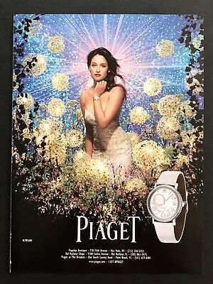 2006 Vintage Print Ad PIAGET Woman's Watch Fashion Style Star Burst Flowers