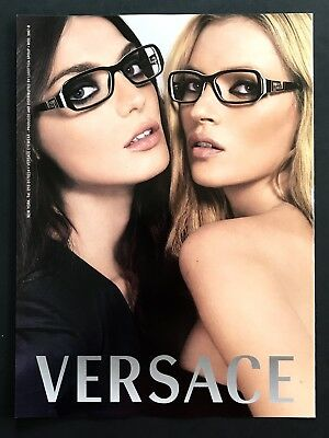 2006 Vintage Print Ad VERSACE Woman's Fashion Sunglasses Image Photo Models