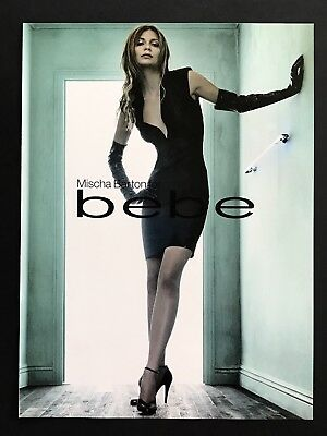 2006 Vintage Print Ad BEBE Woman's Fashion Couture Mischa Barton Image Photo