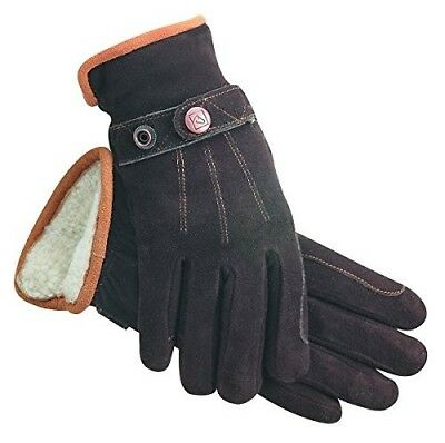 (7, Brown) - SSG Deer Suede Riding Gloves. Shipping Included