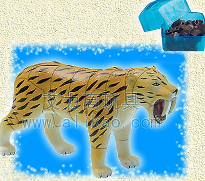 4D Animal Puzzle Toy Assembly Smilodon Tiger Box #B-61