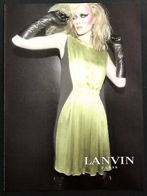 2006 Vintage Print Ad LANVIN Paris Woman's Fashion Image Couture Photo Model