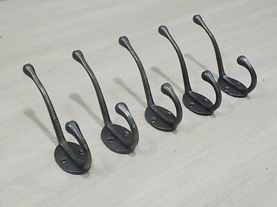 5 Iron Coat Hooks Hat Iron Rack Tree Restoration Double Long Storage Lot Closet