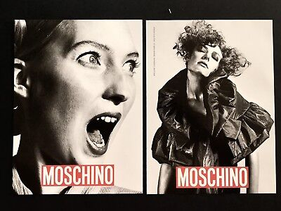 2006 Vintage Print Ad MOSCHINO Woman's Fashion Images Couture Photo