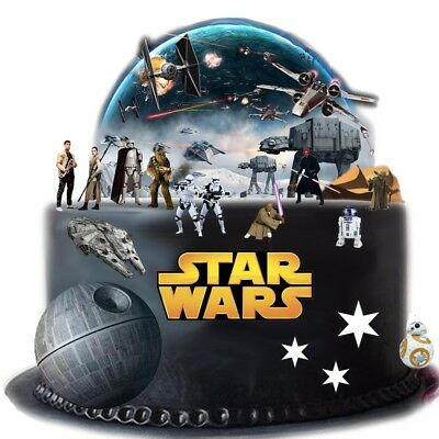 Stand Up Star Wars Cake Scene Premium Edible Wafer Paper Cake Toppers - Easy