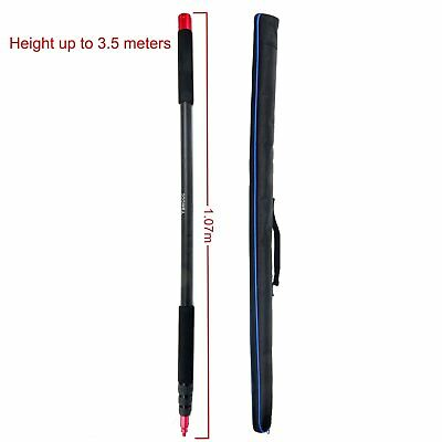 11.5ft Handheld Boom pole for Microphone,Lightweight,Twist Locks ,Padded Handle