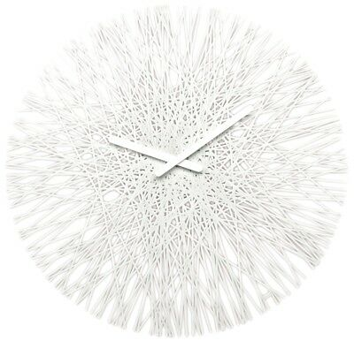 Koziol Silk Acrylic Clock In Three Colours 45cm Diameter White