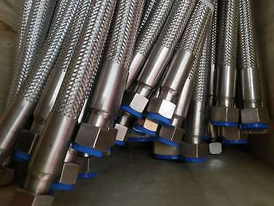 Braided Stainless Steel Hose Different Lengths female BSP THREAD Connection size