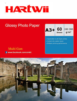 A3 Plus A3+ 180 / 240 / 260 Gsm High Gloss Photo Inkjet Paper 13x19 - 60 Sheet