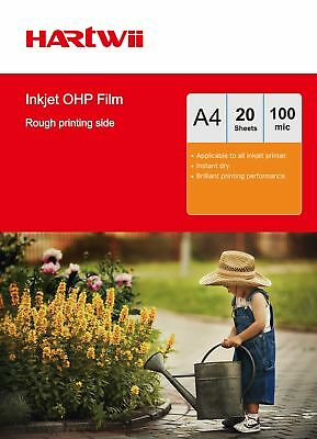 A4 Overhead Projector OHP Film For Inkjet Ink  Clear A4 with Strip - 20 Sheet AU