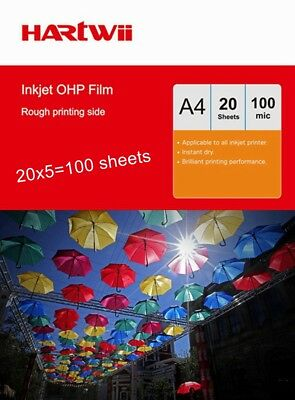 A4 OHP Film  For Inkjet Ink  Overhead Projector Film  with Strip - 100 Sheets