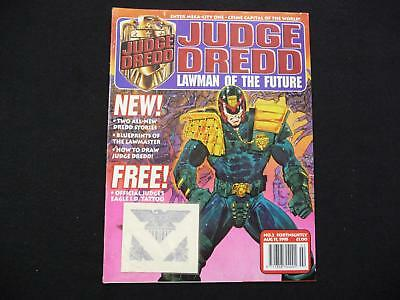 Judge Dredd Lawman of the Future Issue 2 with free tatoo - 1995 (LOT#1515)