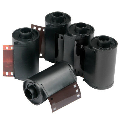 5x Bulk Film Reloadable 135 Cassettes Reusable Plastic Canister Spools With Tail
