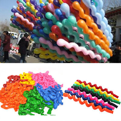 100pcs Twist Spiral Long Latex Balloons Wedding Birthday Party Decoration Decor