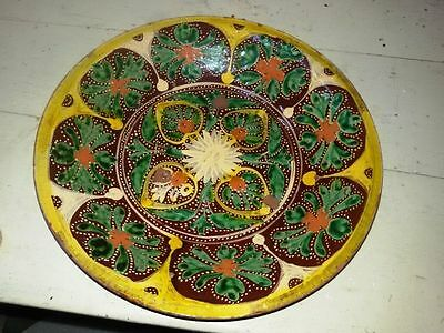 Vintage Hand Painted Multan Pakistan Or Kutch  Antique Plate Rare And Genuine #2