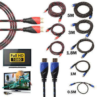 HDMI Cable for HDTV LCD Bluray 3D DVD PS3 Xbox 1080p V1.4 High Speed Cord 0.5-5m