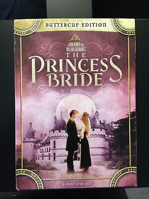 THE PRINCESS BRIDE DVD - Carey Elwes / Andre the Giant - 2 DISCS w/case!!!!