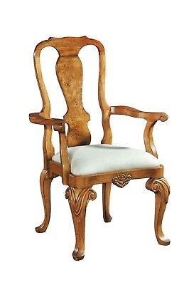 Hampton Walnut Dining Chair / Carver in Queen Anne style Antique Repro H7053A