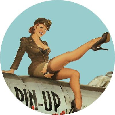 Pin Up Girl  Hot Rat Rod Stickers Vintage Classic Car Decals Sexy Retro look 4