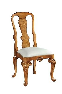 Hampton Walnut Dining Chair / Side Chair Queen Anne style Antique Repro H7053S