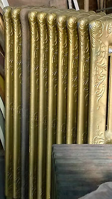 Richmond 1800's Cast Iron Steam Radiator10 Fin Architectural Salvage 38 x 25 x10