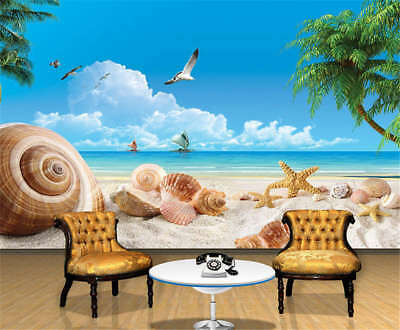 Concise Cute Snail 3D Full Wall Mural Photo Wallpaper Printing Home Kids Decor