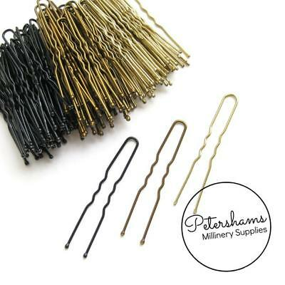 36 Metal Hair Pins for Bridal Hair Pieces, Fascinators & Millinery