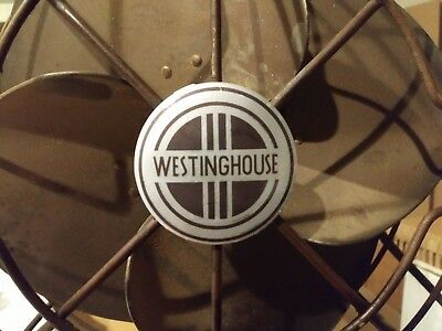 Vintage Westinghouse Fan Badge Restoration Decal