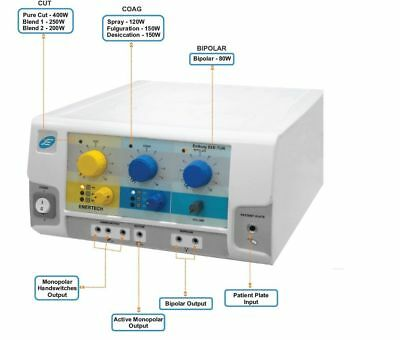 Electrosurgical Generator 400 W Under Water Surgery Surgical Diathermy Unit mku7