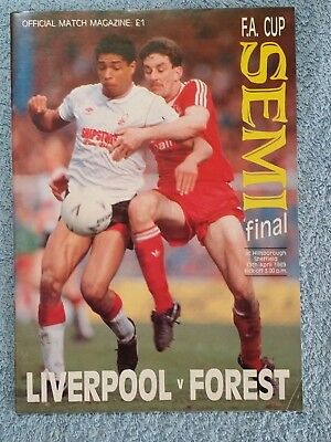 1989 - FA CUP SEMI FINAL PROGRAMME - LIVERPOOL v NOTTS FOREST