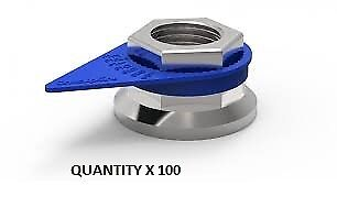 *32Mm X 100 Checkpoint Wheel Nut Indicator / Pointer Blue Cp32Mmblue X 100