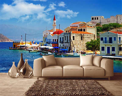Coastal House Realm 3D Full Wall Mural Photo Wallpaper Printing Home Kids Decor