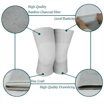 (Small) - Bamboo Charcoal Knee Support Elastic Compression Knee Sleeve Sports
