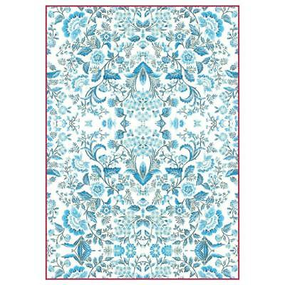 1 Blatt DIN A4 Decoupage Reispapier DFSA4298 Light Blue Arabesque