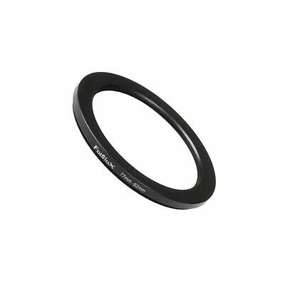 Fotodiox Metal Step Down Ring Filter Adapter Anodized Black Aluminum 77mm-62m...