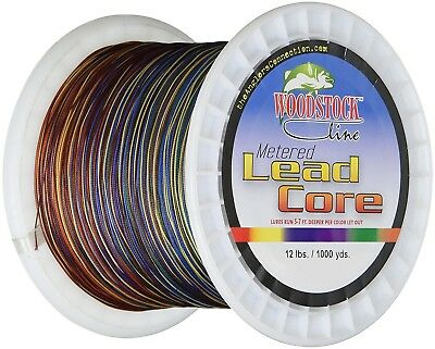 (100 Yards) - Woodstock 5.4kg Metered Lead Core Fishing Line. Delivery is Free