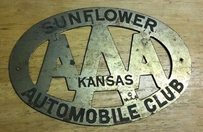 AAA Kansas Sunflower Automobile Club License Plate Topper