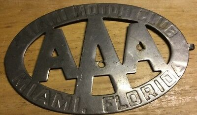 AAA Miami Motor Club, Miami, Florida License Plate Topper