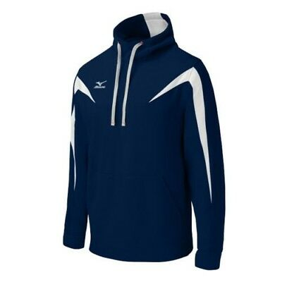 (Small, Navy/White) - Mizuno Elite Thermal Hoodie. Delivery is Free