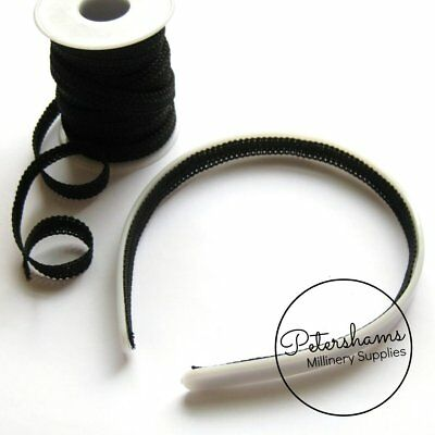 10 yard Roll Black 1cm Wide Headband Lining Braid Ribbon for Millinery