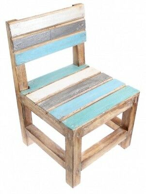Wooden Chair Display Child's Chair Nautical Theme Rustic Style