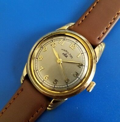 Vintage 1952 Mans Hamilton *LYNWOOD* Hand Winding Silver Dial FULLY SERVICED!