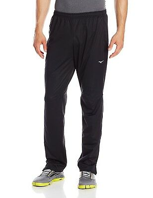 (XX-Large, Black/Charcoal) - Mizuno Men's Running BT Wind Pant. Free Delivery