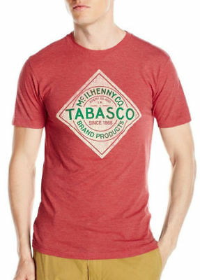 TABASCO Label Logo T-Shirt NWT Tee Fashion Hot Sauce Red Licensed & Official
