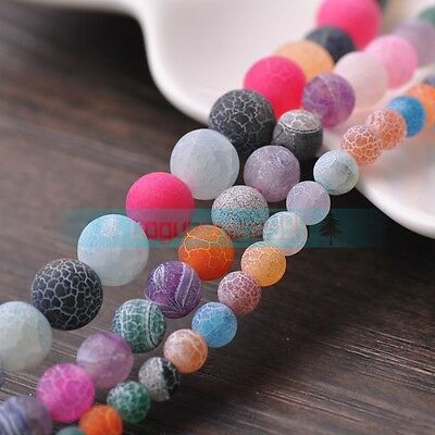 Wholesale Mixtrue Efflorescent Agate Round Loose Spacer Beads 6mm 8mm 10mm