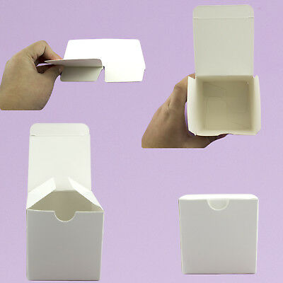 10pc 50pc White Kraft Square Paper Boxes Candy Gift Box Wedding Party Favor