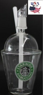 Starbuck Cup Original Opaque Bright green dab concentrate oil rig glass dome