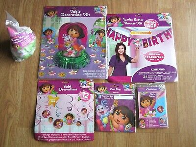 Dora The Explorer Birthday Party Supplies Banner, Decorating, Swirl, Loot Bags