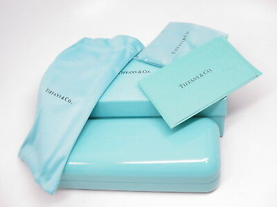 Authentic Tiffany & Co Box, Hard Case, Cloth, Pouch & Booklet for Eyeglasses