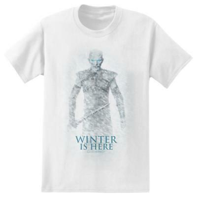 Game Of Thrones WINTER IS HERE T-Shirt NWT Licensed & Official Tee Show Movie